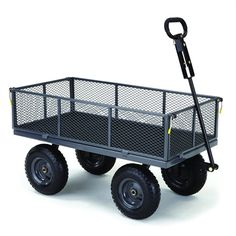 Gorilla Carts GOR1000PS-C 5-cu ft Steel Yard Cart