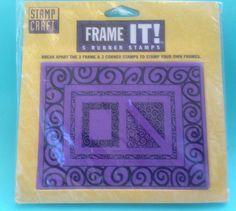 #FrameIt #RubberBreakApartStamps Set 3 #Frames 2 #Corners #StampsCraft 2520F NIP