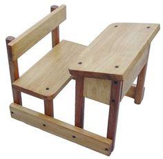 Wood School Desks On Desk