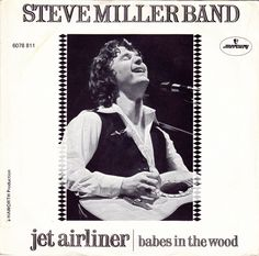"Steve miller band jet airliner y babes in the wood single vinilo 7"" 45 rpm vinyl single, Mercado de la Tía Ni, Sabarís, Baiona."