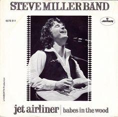 "Steve miller band jet airliner y babes in the wood single vinilo 7"" 45 rpm vinyl single, Mercado de la Tía Ni, Sabarís, Baiona."