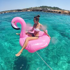 Floating with flamingo Flamingo Float, Summer Photography, Mediterranean Sea, Gopro, Ibiza, Lifestyle, Outdoor Decor, Instagram Posts, Summer Pictures