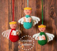 Choir of Angels Crochet Pattern Crochet Christmas Ornaments