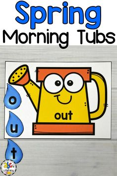 Are you looking for a better way to start the day? These Spring Morning Tubs are an engaging and entertaining way to start your day! Your preschoolers, kindergartners, or first graders will use these May Morning Tubs to learn and review 5 literacy concepts like spelling CVC words. This set of fun, hands-on Spring activities also include 5 math morning tubs. Click on the picture to learn more about these morning work activities! #morningtubs #CVCwords #springmorningtubs #spellingCVCwords
