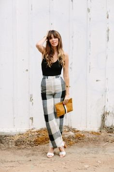 High-waisted linen plaid.  Everything.