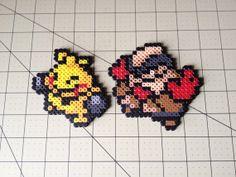 Pokemon Bead Sprite Set  Makuhita Family by ToughTurtles on Etsy, $5.50
