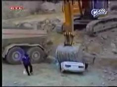 Don't piss off a heavy equipment operator! - YouTube