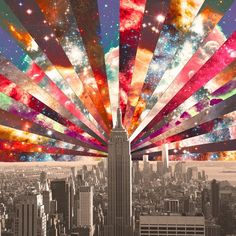 """Superstar New York"" Stretched Canvas by Bianca Green on Society6."