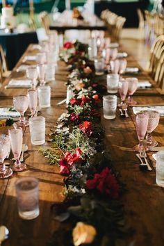 montauk wedding floral runner table garland - lauren wells @laurenswells #lwellsevents