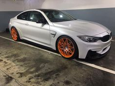 A BMW M4 Competition Pack with GTS painted rims was spotted recently by @zaakir_modan Not sure the orange works without the large wing and front lip What you all think? #SouthAfrica #ExoticSpotSA #BMWM4 #M4GTS #M4CompetitionPack #Zero2Turbo