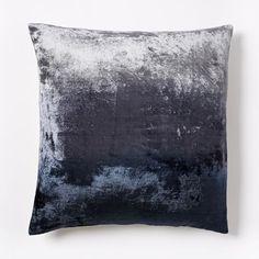 Ombre Velvet Pillow Cover - Nightshade | west elm