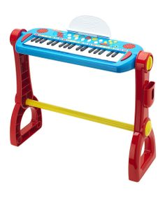 Future musicians love this play-along, 37-key keyboard that's colorful and inspiring. With built-in rhythms, flashing light effects, musical instruments and demo songs, it's perfect for the budding recording artist! Includes keyboard21'' W x 21.4'' H x 7.5'' DRecommended for ages 8 years and older