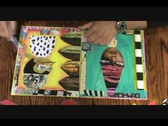 You Tube - Teesha Moore demonstrates the way she uses pens over her painted and collaged pages in one more step along her journaling process (several videos).