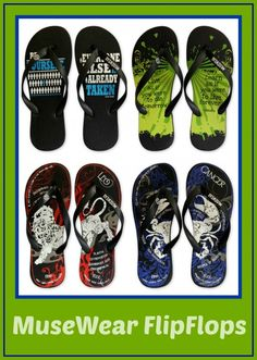 Fun and funky, with great graphics and catchy quotes, these super comfortable flip flops are unisex, high-quality, made in fair-worker condi...