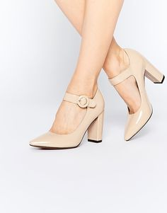 Image 1 of Truffle Collection Mona Mary Jane Block Heeled Shoes