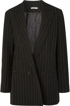 GANNI | Pinstriped crepe blazer | NET-A-PORTER.COM