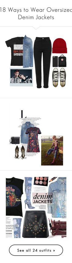 """""""18 Ways to Wear Oversized Denim Jackets"""" by polyvore-editorial ❤ liked on Polyvore featuring waystowear, oversizedjeanjackets, oversizeddenimjackets, Topshop, Converse, 7 For All Mankind, NLY Accessories, Fjällräven, Case-Mate and ootd"""