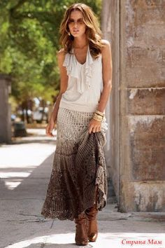 Miss Flor Croche: Saias longas em croche 1