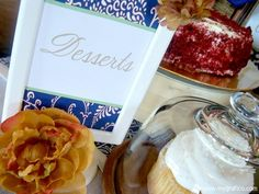 Desserts - Standing Sign A Very Blessed Housewarming Party styled by Cupcake Wishes & Birthday Dreams