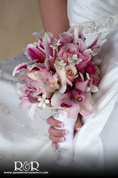 Wedding Photography | Bridal Bouquet | Pink & White | Lilies |
