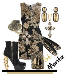 """StMoritz"" by rellenj ❤ liked on Polyvore featuring Notte by Marchesa, Miss Selfridge, David Yurman, Matthew Campbell Laurenza, Dsquared2 and Guanábana"