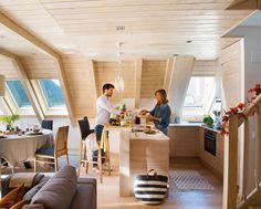 Море уюта в маленьком горном домике   Пуфик - блог о дизайне интерьера