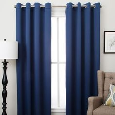 Ultimate Blackout Grommet Top Panel is woven in 3 layers, a tight weave of colored yarns on the front/back, sandwiched around an inner layer of black yarns. Tie Up Curtains, Cool Curtains, Blackout Panels, Blackout Curtains, Balloon Shades, Bamboo Panels, Girly, Custom Drapes, Home Decor Outlet