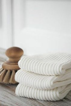 For the bath, crisp white towels - king size bath sheets in bamboo or thick organic Eqyptian cotton.