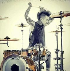 Travis Barker from Blink 182,+44 and Box Car Racer (Pop Punk)