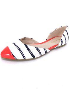 Pelle Moda Brice Striped Flat - Womens Shoes