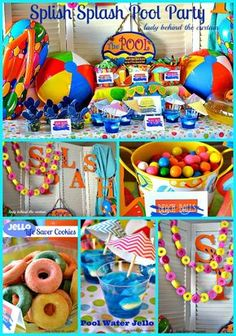 What is a Semi Homemade Splish Splash Pool Party? All the desserts are semi homemade! Now you can throw a stress free fun summer pool party! Water Birthday Parties, Boy Pool Parties, Pool Party Themes, Pool Party Kids, Pool Party Decorations, Summer Pool Party, Birthday Party Themes, Summer Birthday, Birthday Ideas