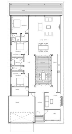 Isabella Home PlanNarrow Lot House Plans by Weber Design Group