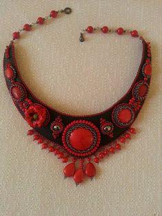 Elegante Halskette mit Korallen von BeadStArt auf Etsy