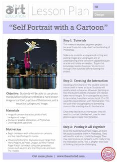 Interactive Self Portrait with a Cartoon: Free Lesson Plan Download