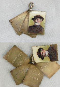 Alter Anhänger Giuseppe Verdi,900 Silber,emailliert, EUR 125,00