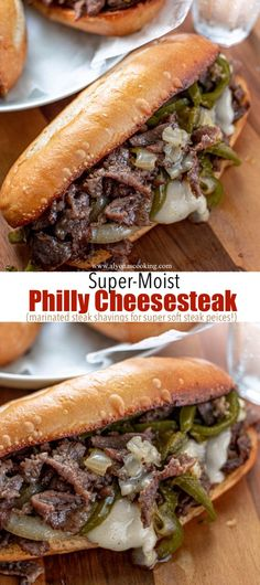 Steak Sandwich Recipes, Steak Recipes, Cooking Recipes, Philly Cheese Steak Meat, Philly Cheese Steak Crock Pot Recipe, Philly Cheese Steak Sandwich Recipe Easy, Philly Steak Sandwich, Steak And Cheese Sub, Sandwiches