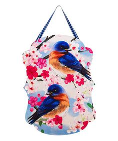 Love this Blue Birds on Floral Branch Felt Door Hanger on #zulily! #zulilyfinds