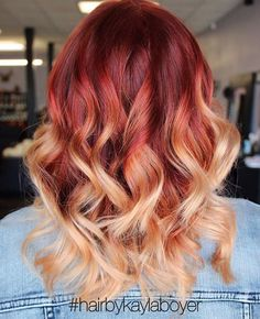 Trending this week on Instagram: fiery reds. We love that clients are taking a risk with this vibrant color. The ombrè from@kateloveshair is stunning, and we love this bold look from@playw