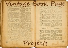 Crafty Vintage Book Page Projects
