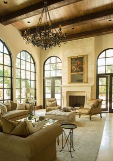 River Oaks Estate - Mediterranean - Living Room - houston - by Marie Flanigan Interiors