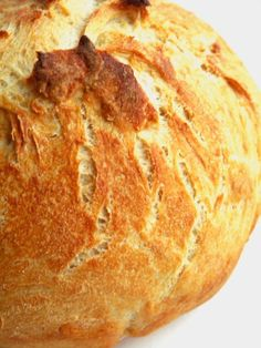 No Knead Bread - the recipe for people who think they can't bake bread. This is super easy & very scrumptious!