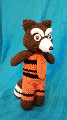 Rocket Raccoon Amigurumi Plush inspired by Marvels ...