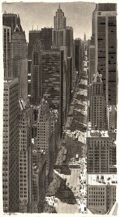 Stefan Bleekrode's Drawings Recreate Cityscapes from Memory,New York City. Image © Stefan Bleekrode