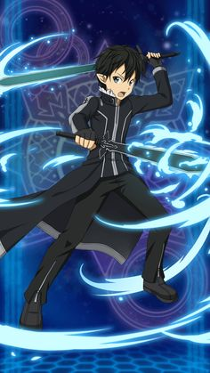 Kirito is my favourite actor and my fan Kirito is my hero in Sword Art Online Kirito Sword, Sword Art Online Kirito, Kirito Kirigaya, Kirito Asuna, Online Anime, Online Art, Desenhos Love, Sword Art Online Wallpaper, Pokemon