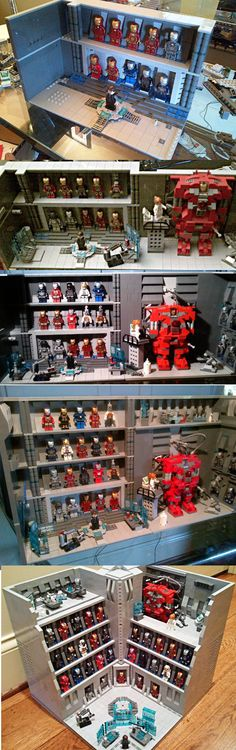 Stark Industries Armory - Iron Man Hall of Armor LEGO http://www.Adopt-A-Brick.com/