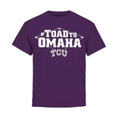 Youth Purple TCU Horned Frogs 2015 NCAA Men's Baseball College World Series Toad to Omaha T-Shirt