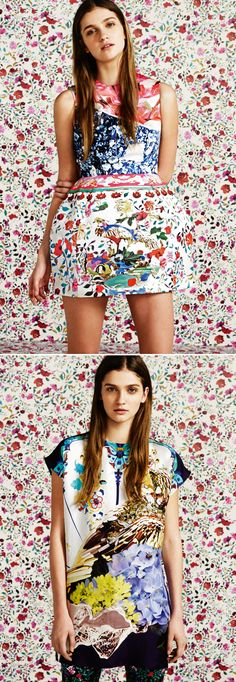 Super surreal florals by Mary Katranzou for Topshop