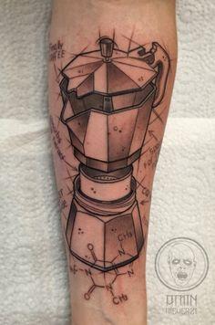 """Tattoo: """"Amin Meherzi: Bialetti Coffee"""" mit Bewertung und hilfreichen Kommentaren. Tattoo jetzt ansehen »"""