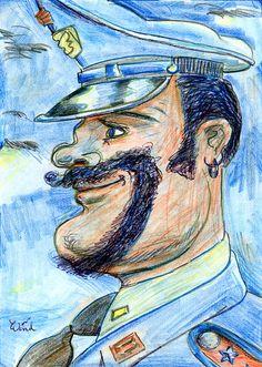 Der Bart (The Beard), ca. 1992 by.G.Wind - Psychologisches Porträt