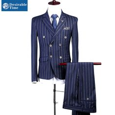 Men Double Breasted Tailored Suit Slim Fit Custom Made Pinstripe Navy Blue   $ 180.65   Item is FREE Shipping Worldwide!   Damialeon   Check out our website www.damialeon.com for the latest SS17 collections at the lowest prices than the high street   FREE Shipping Worldwide for all items!   Buy one here http://www.damialeon.com/men-double-breasted-tailored-suit-slim-fit-custom-made-pinstripe-navy-blue-wedding-suits-for-men-dt279/        #damialeon #latest #trending #fashion #instadaily…